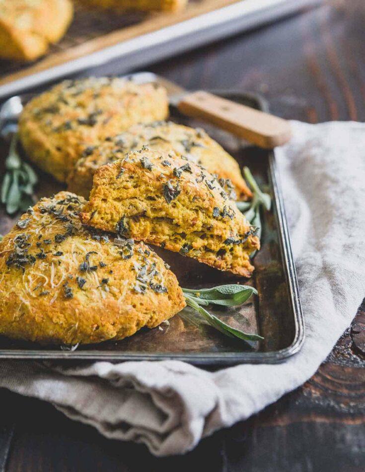 parmesan pumpkin scones