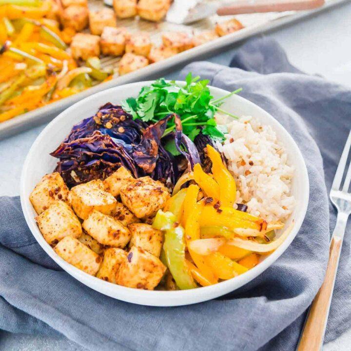 sheet pan meal prep roasted tofu