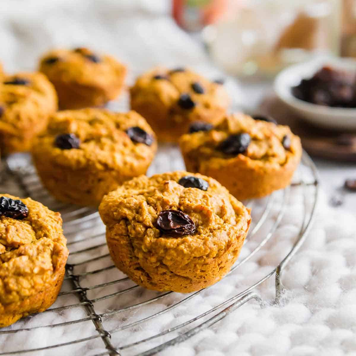 These gluten-free, vegan sweet potato bran muffins are studded with raisins for a healthy, hearty and nutrient dense breakfast or snack. Just over 100 calories each!