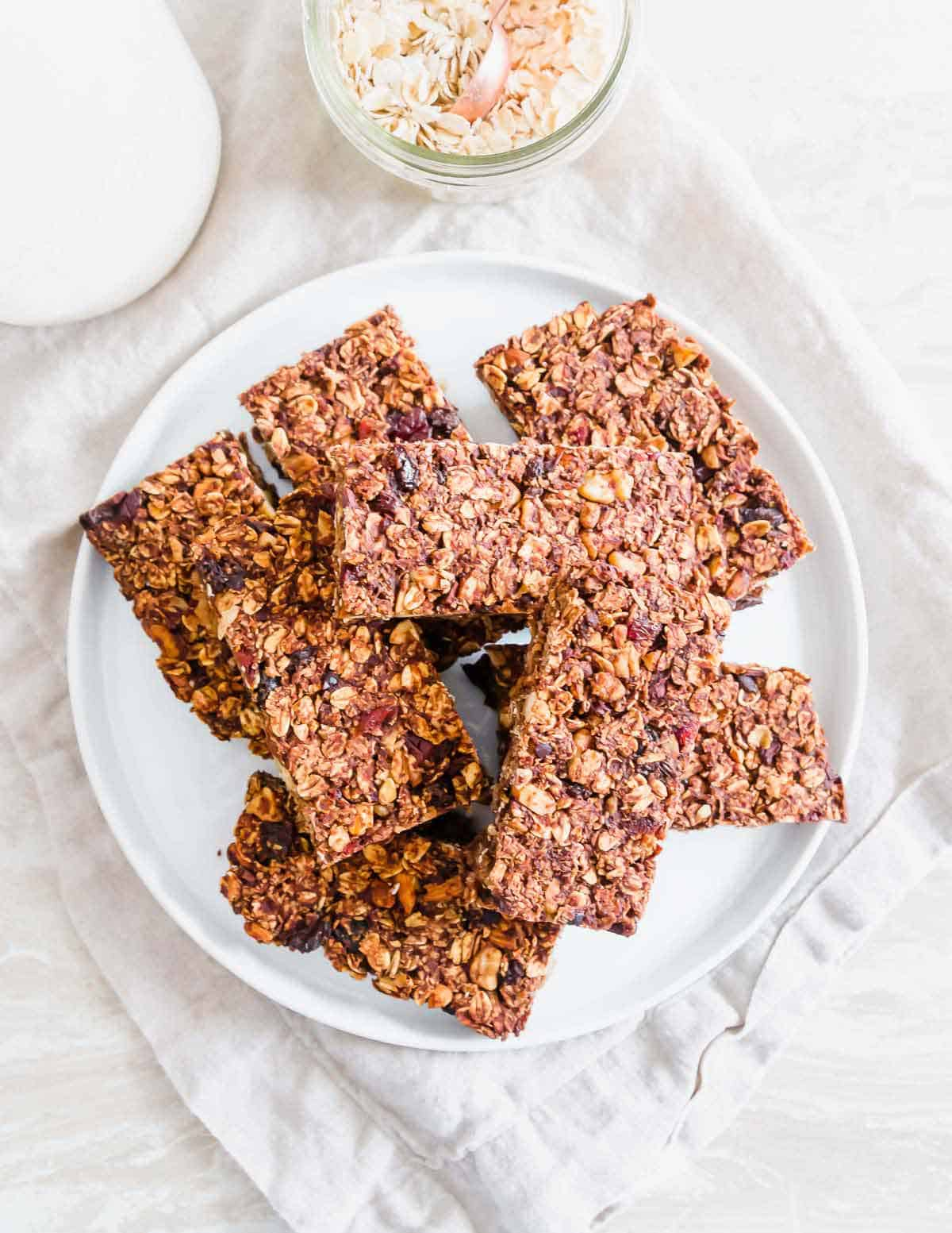 Customize this easy recipe for chocolate granola bars with your favorite nuts, fruit and add-ins for a healthy, delicious snack.