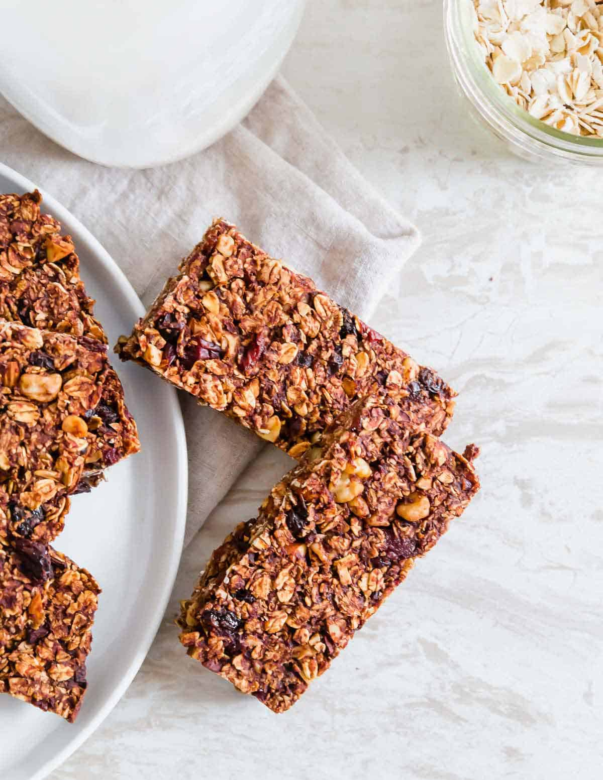 Make your own granola bars at home with this easy chocolate granola bar recipe.