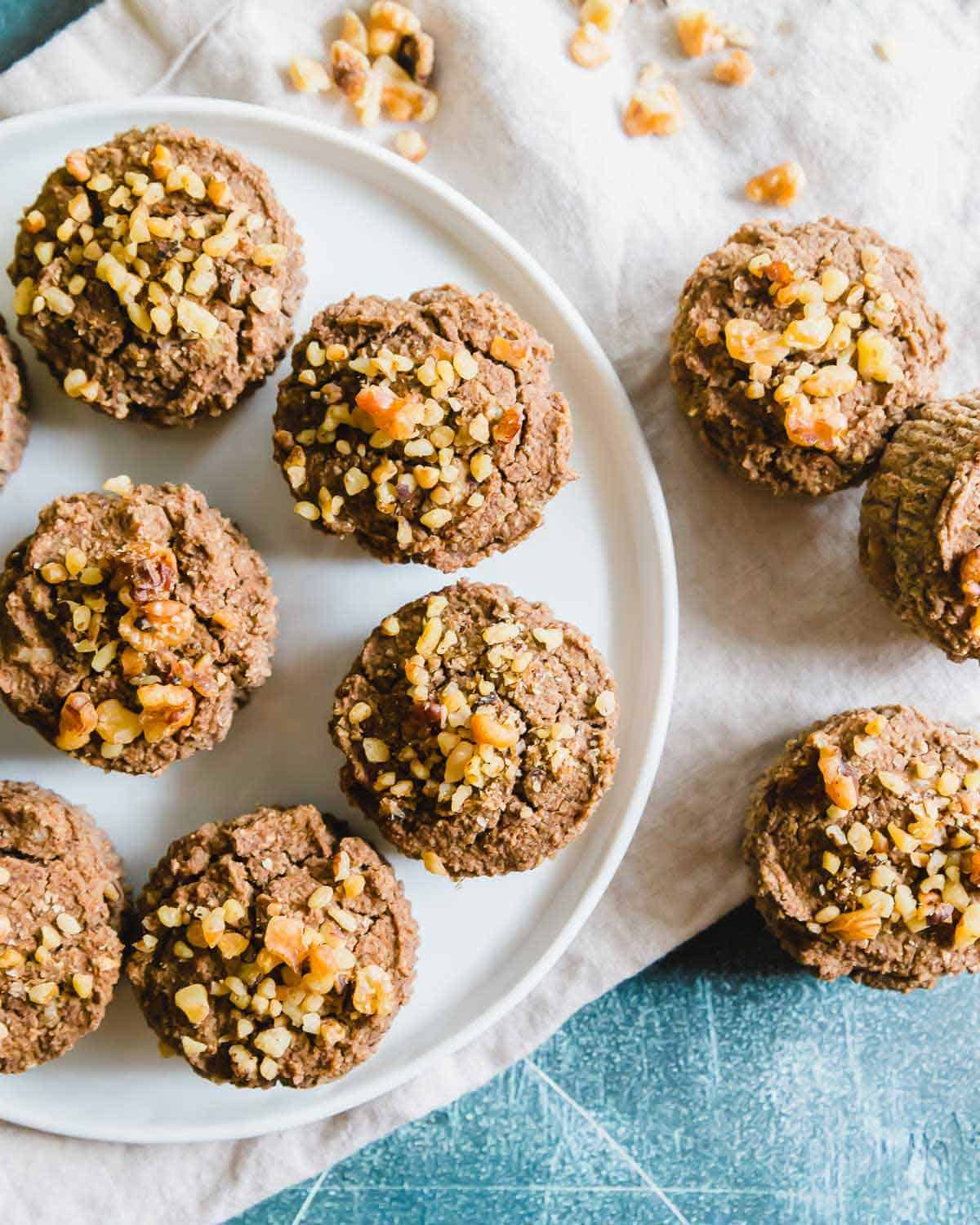 Vegan, gluten-free almond pulp muffins are a delicious healthy snack and great way to use up leftover almond pulp.