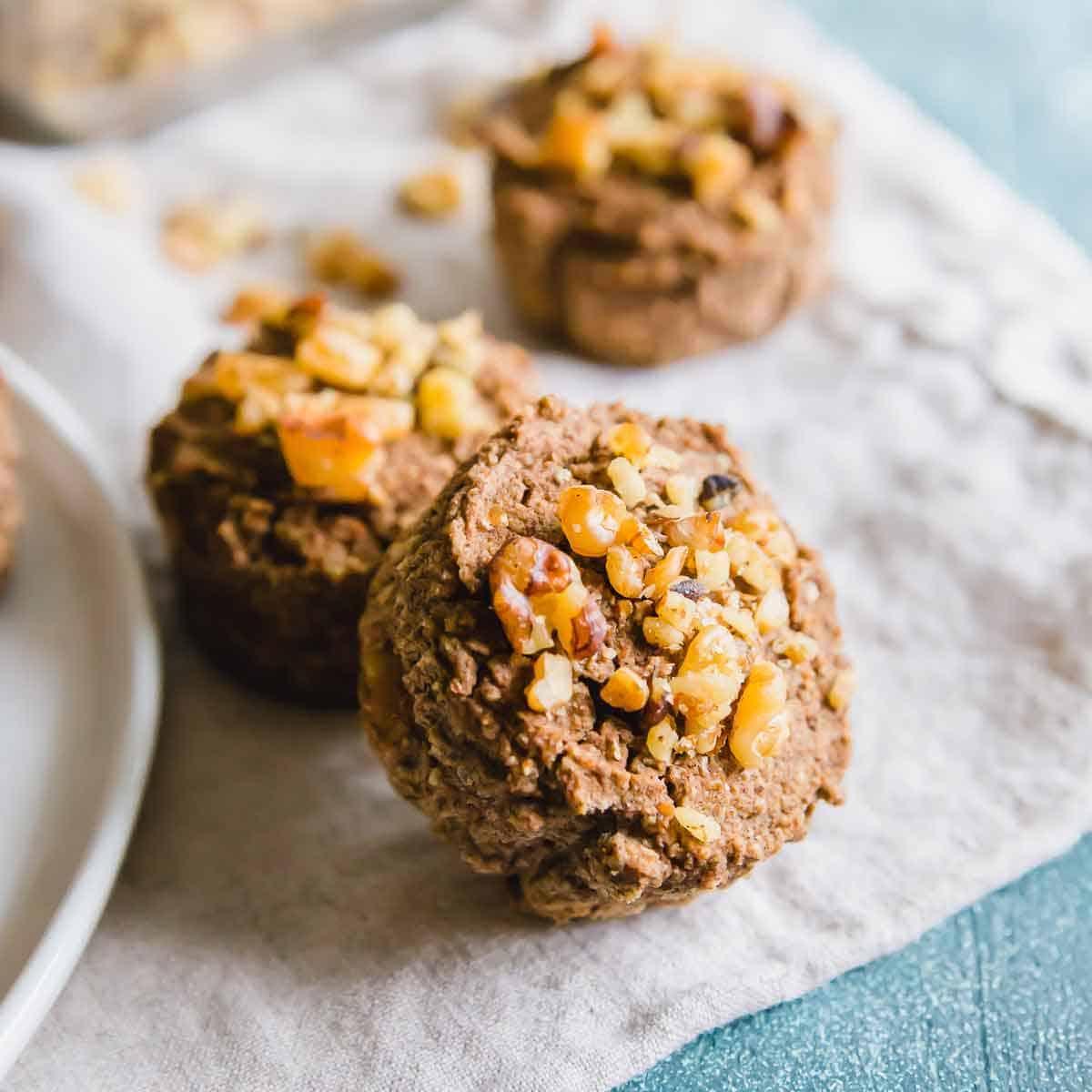 banana nut almond pulp muffins