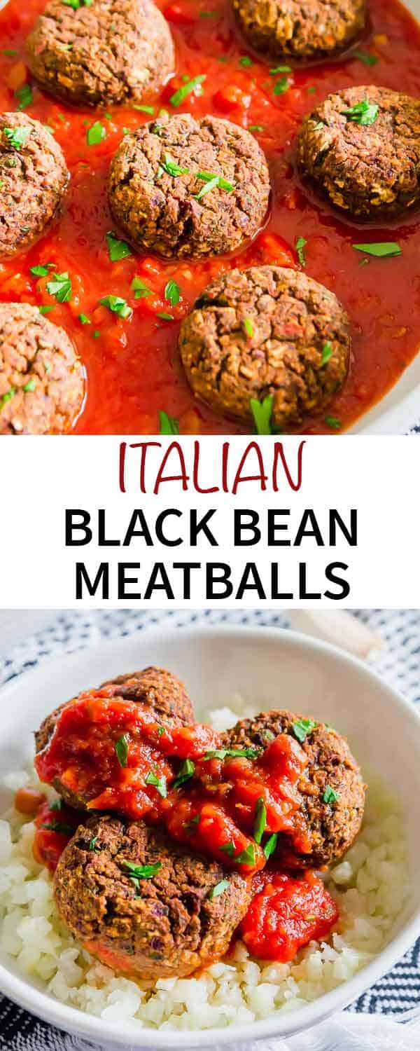 "Want a cozy, comforting and hearty plant based meatball recipe? These black bean ""meatballs"" use wholesome clean ingredients for a vegan/gluten-free alternative you'll love."