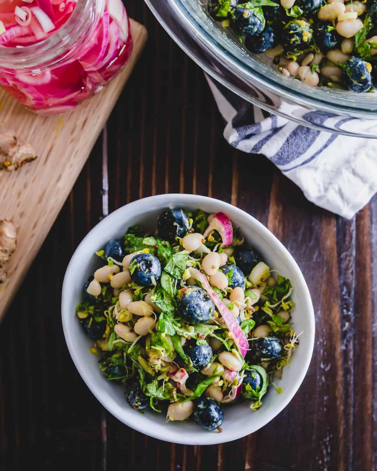Packed with nutritious and anti-inflammatory foods, this blueberry white bean salad doesn't skimp on flavor.