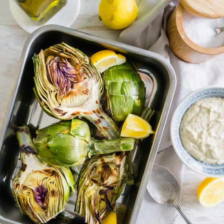 simple grilled artichokes