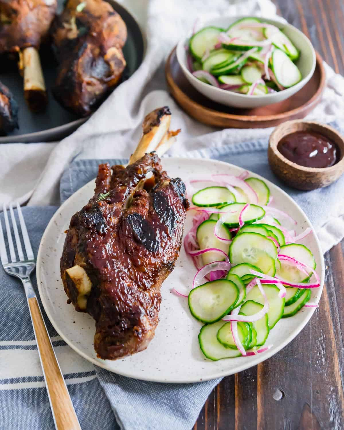 Seasoned perfectly and full of delicious BBQ flavor, these lamb shanks make a great summer meal to share.