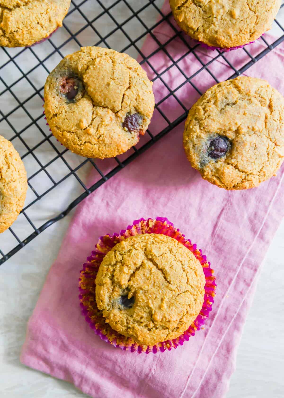 The chewy texture you love from a corn muffin in an easy vegan and gluten-free version filled with cherries!