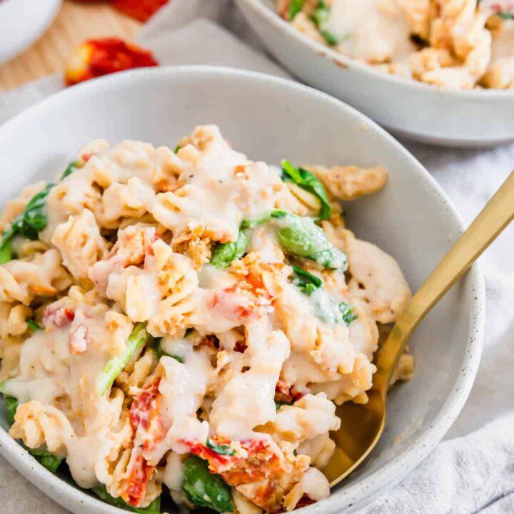 creamy white bean pasta