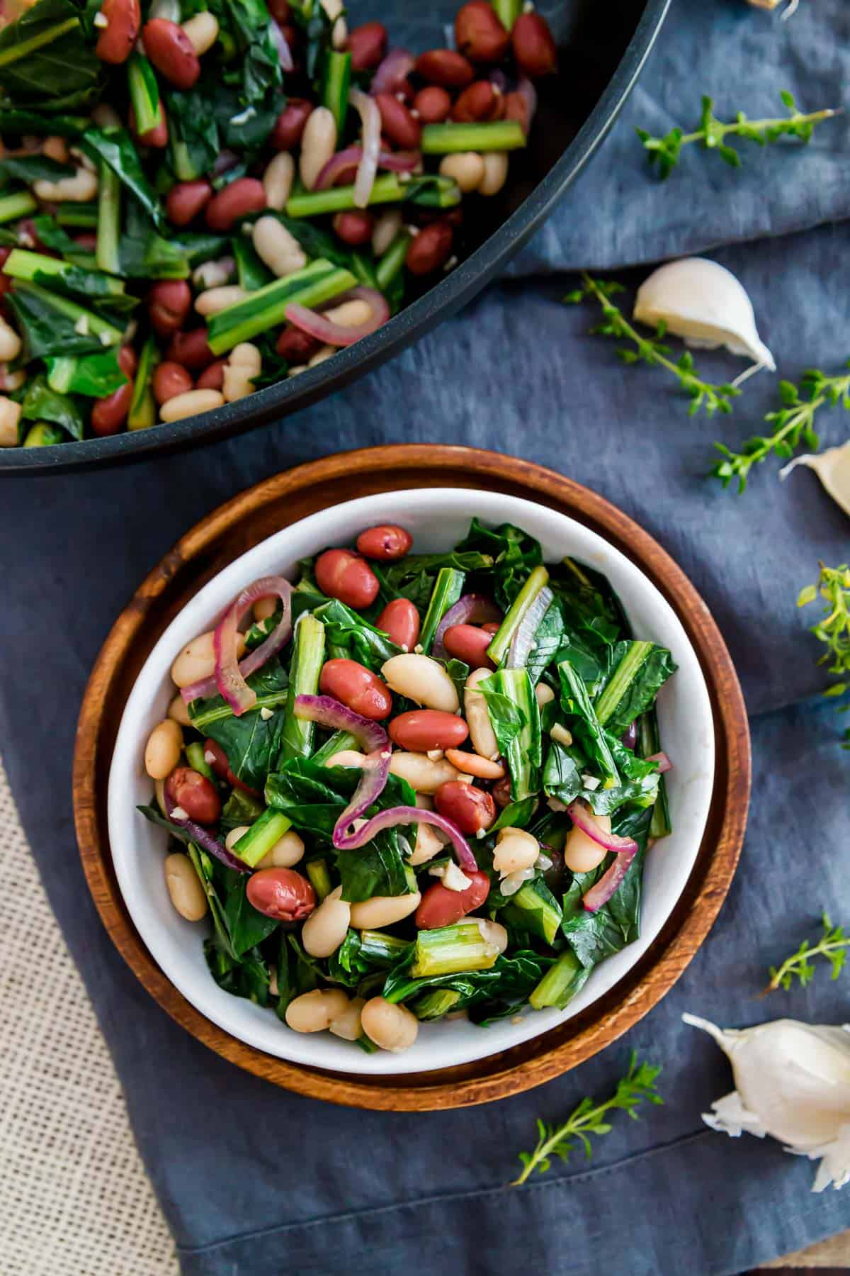 Easily prepare dandelion greens in this skillet recipe with beans, red onions and a splash of balsamic vinegar.