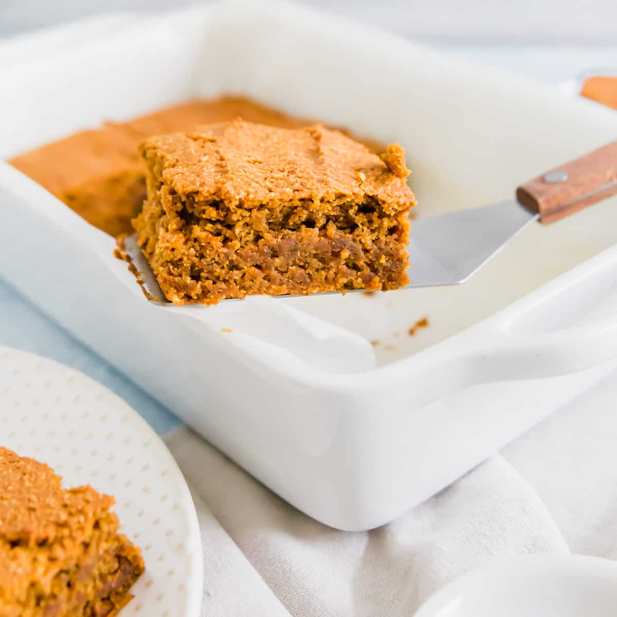 Soft and moist in the middle, these pumpkin bars are packed with fall spices and flavor.