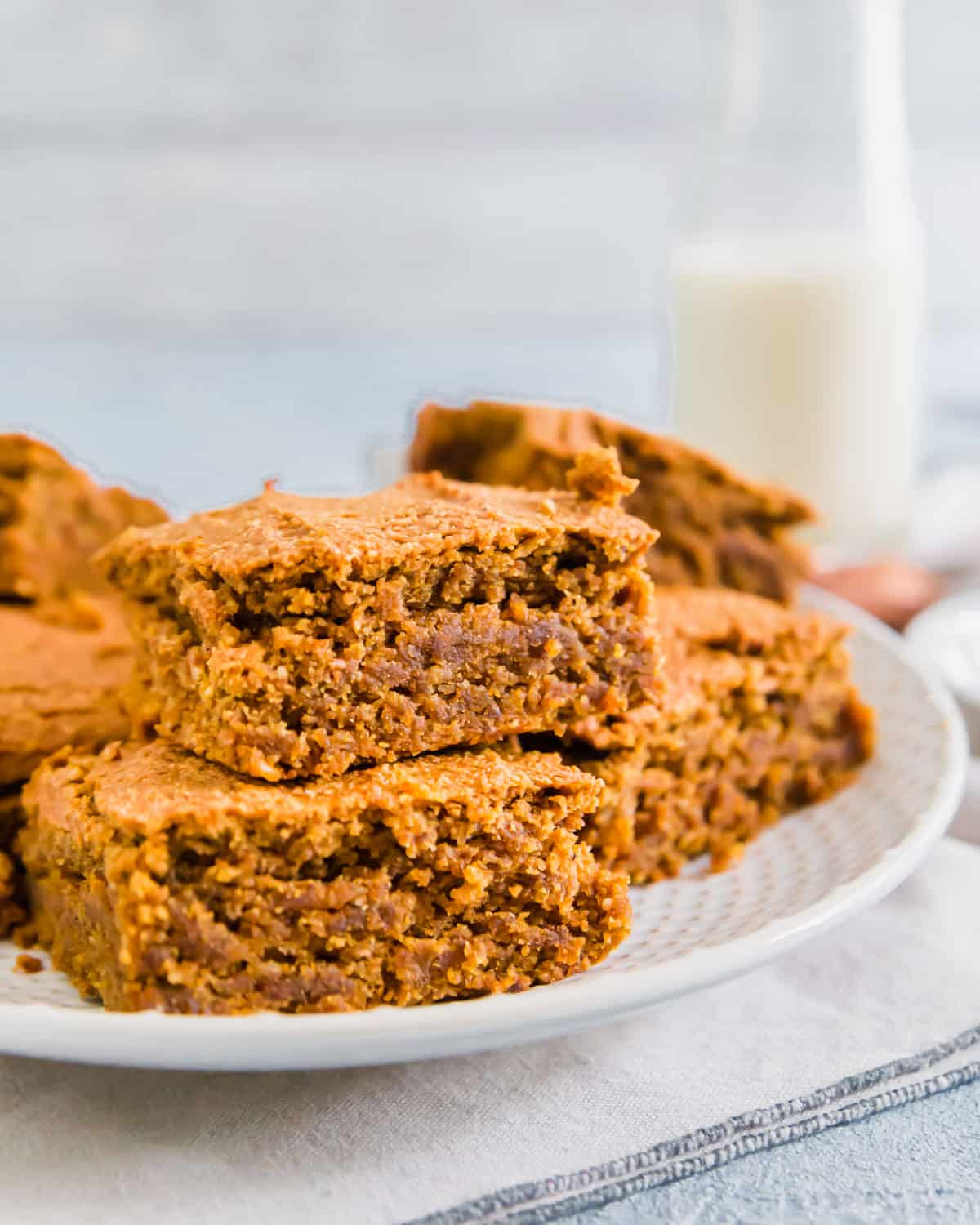 gluten free pumpkin bars are perfect for an afternoon snack with a cup of tea or milk and decadent enough for dessert too!