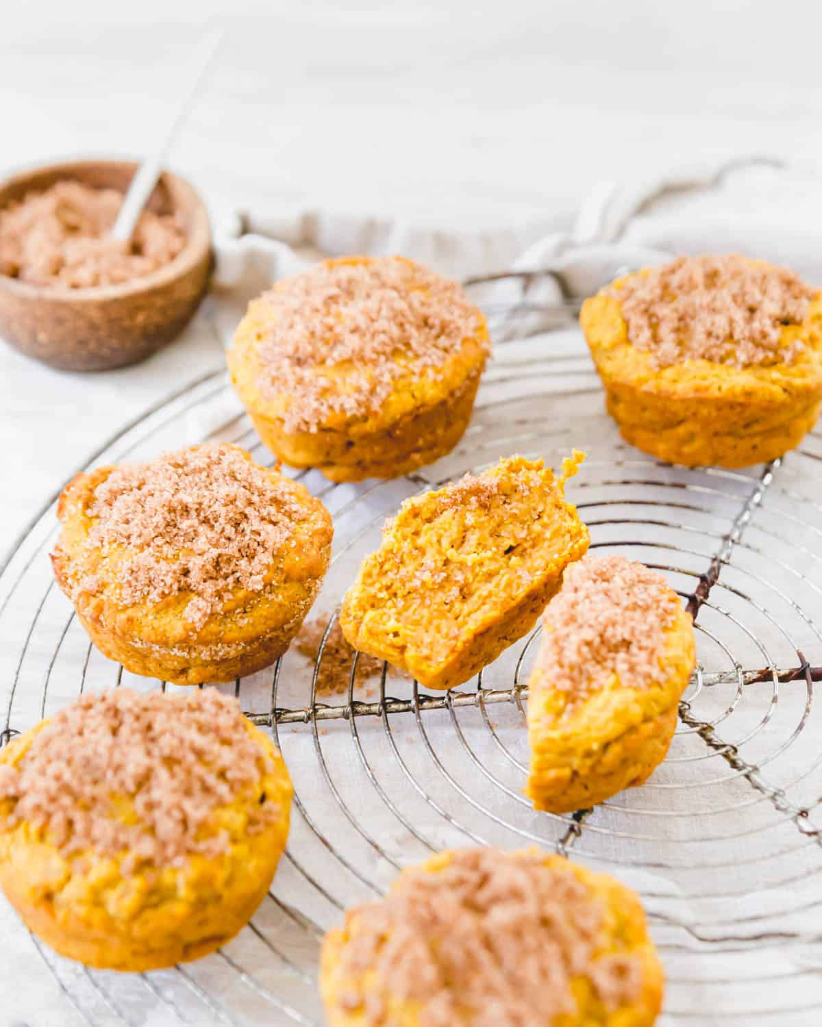Enjoy these gluten free, dairy-free and vegan pumpkin muffins with just a handful of simple ingredients for the fall season.