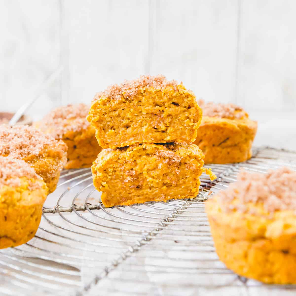 Tender, moist and packed with pumpkin spice flavor, these gluten-free pumpkin muffins are the perfect fall snack or treat!