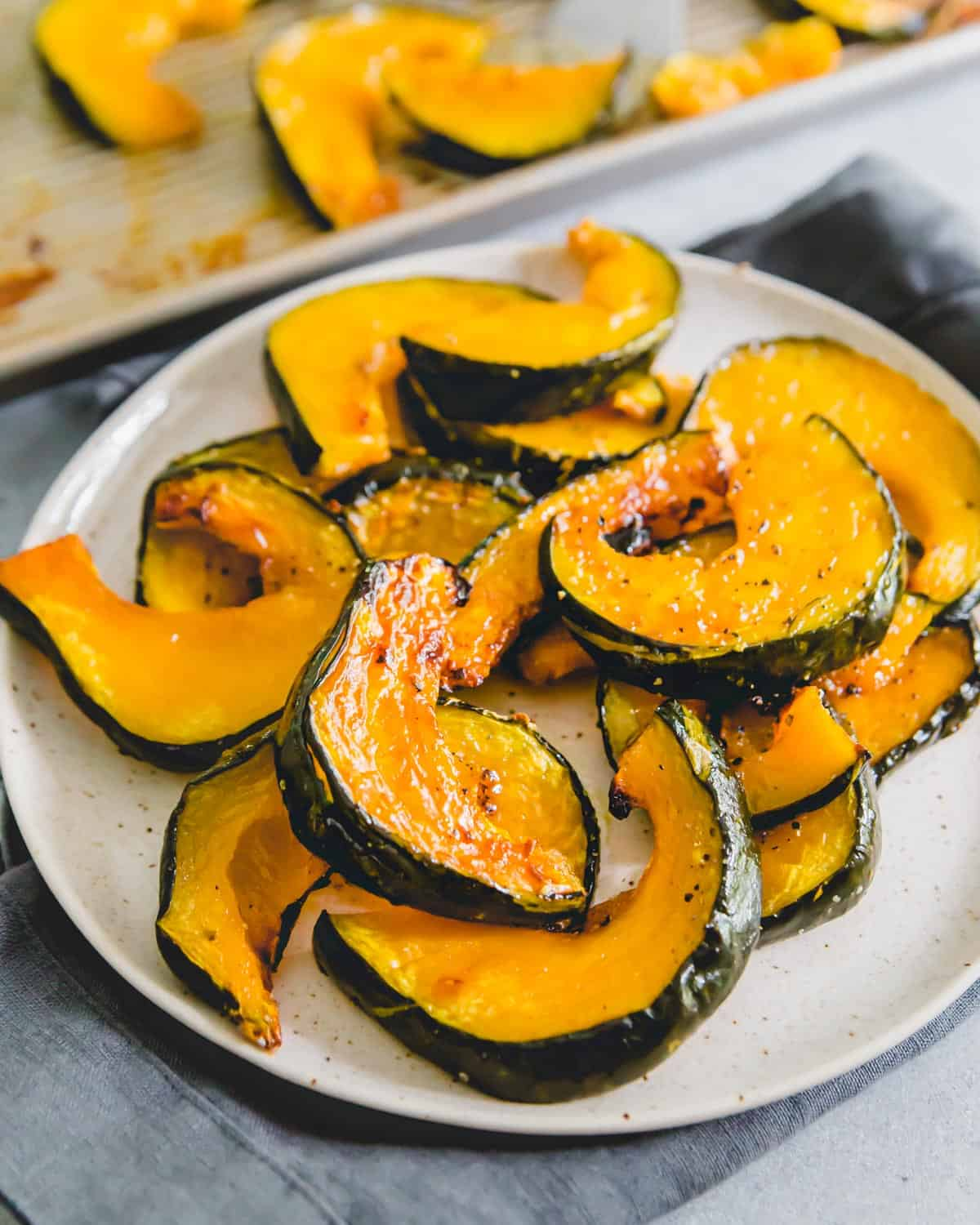 Buttercup squash is an often overlooked member of the fall squash family. Learn the best ways to cook it including this simple method for roasting in the oven until sweet and caramelized.