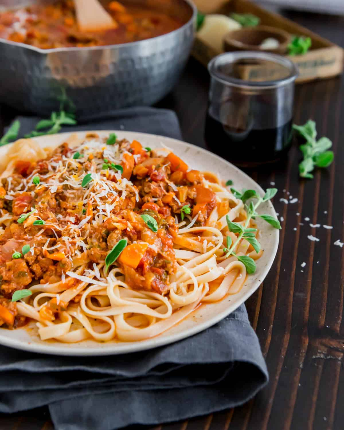 Hearty, saucy classic bolognese is made in the Instant Pot with this easy recipe.