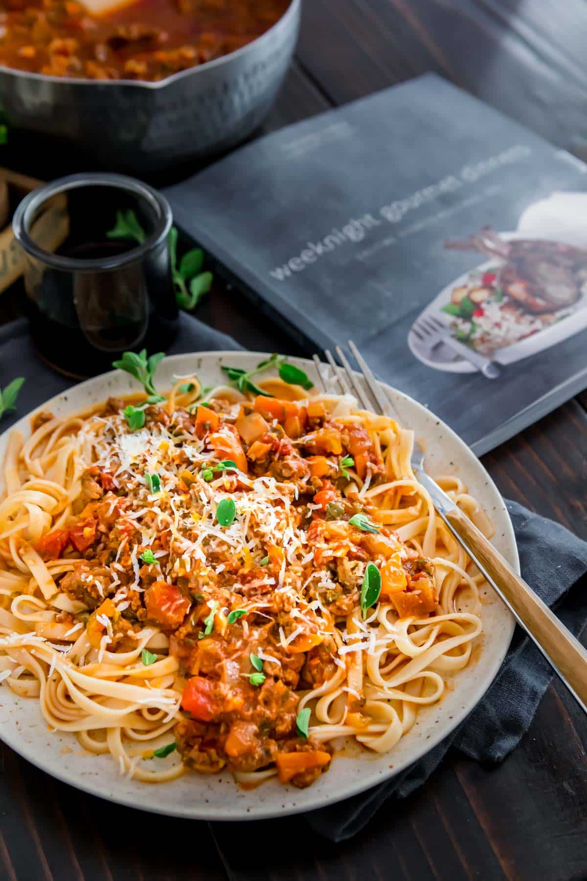 Classic Instant Pot bolognese from Weeknight Gourmet Dinners