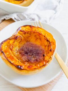 baked white acorn squash