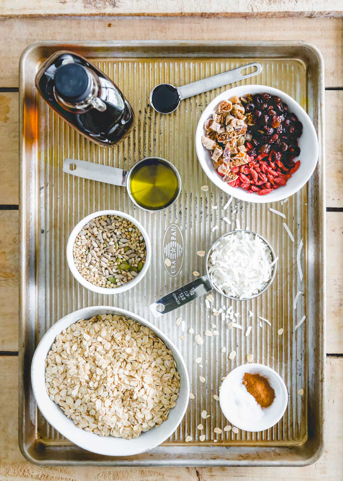 ingredients for nut free granola recipe
