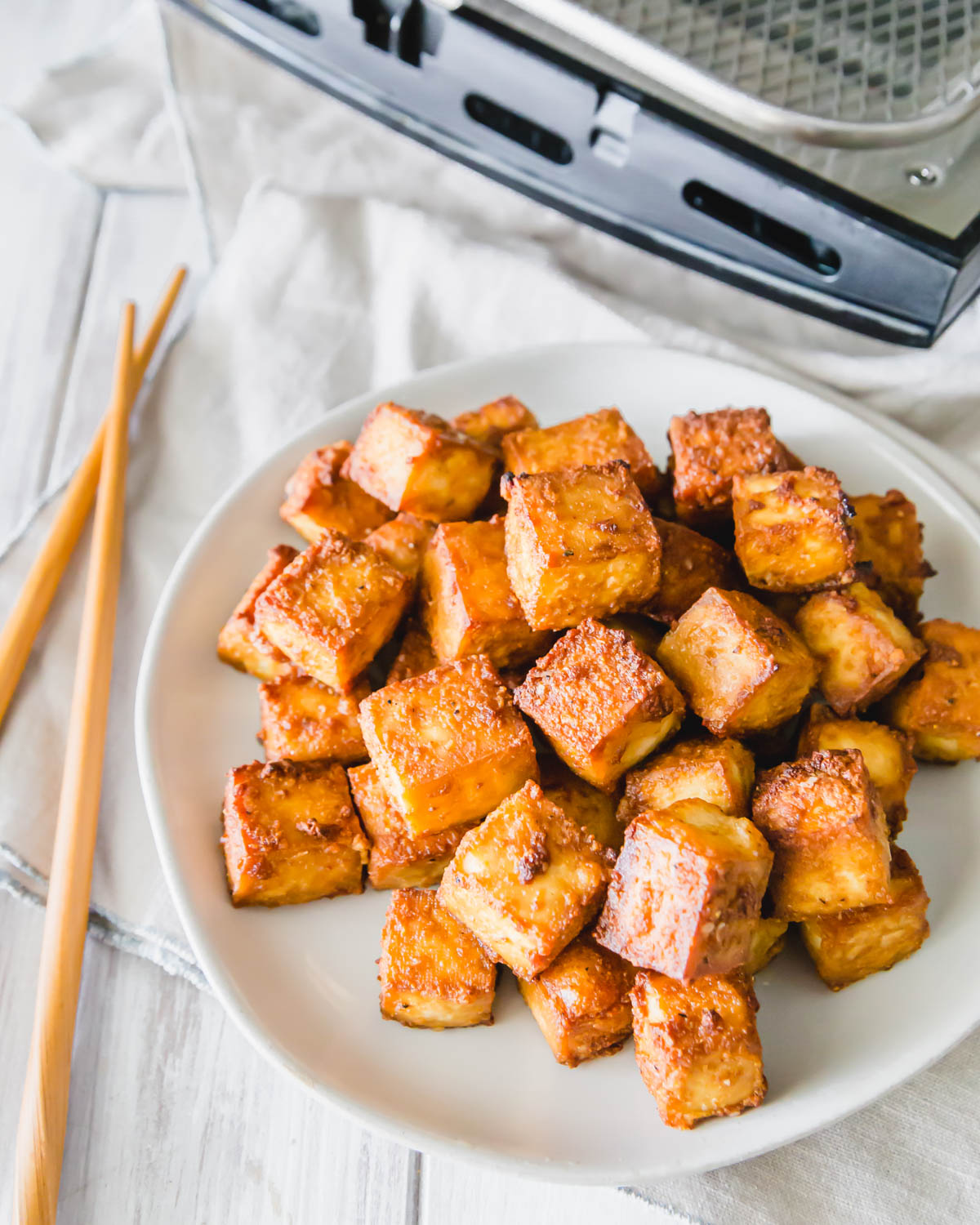 Learn how to make tofu in an air fryer with this quick and easy recipe.