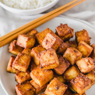 Crispy air fryer tofu