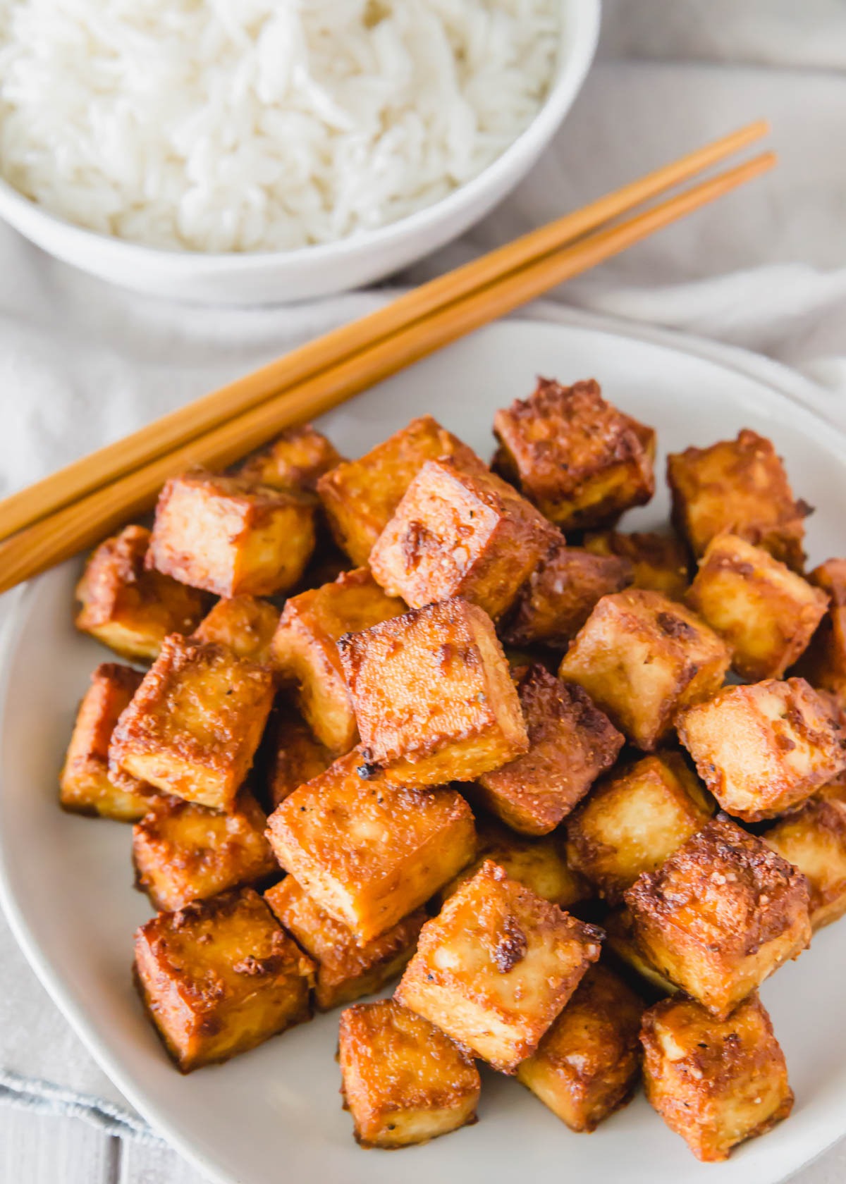 This air fryer tofu recipe is extra crispy and full of flavor using just a handful of ingredients. Making tofu in the air fryer will be your new favorite method once you try this easy recipe.
