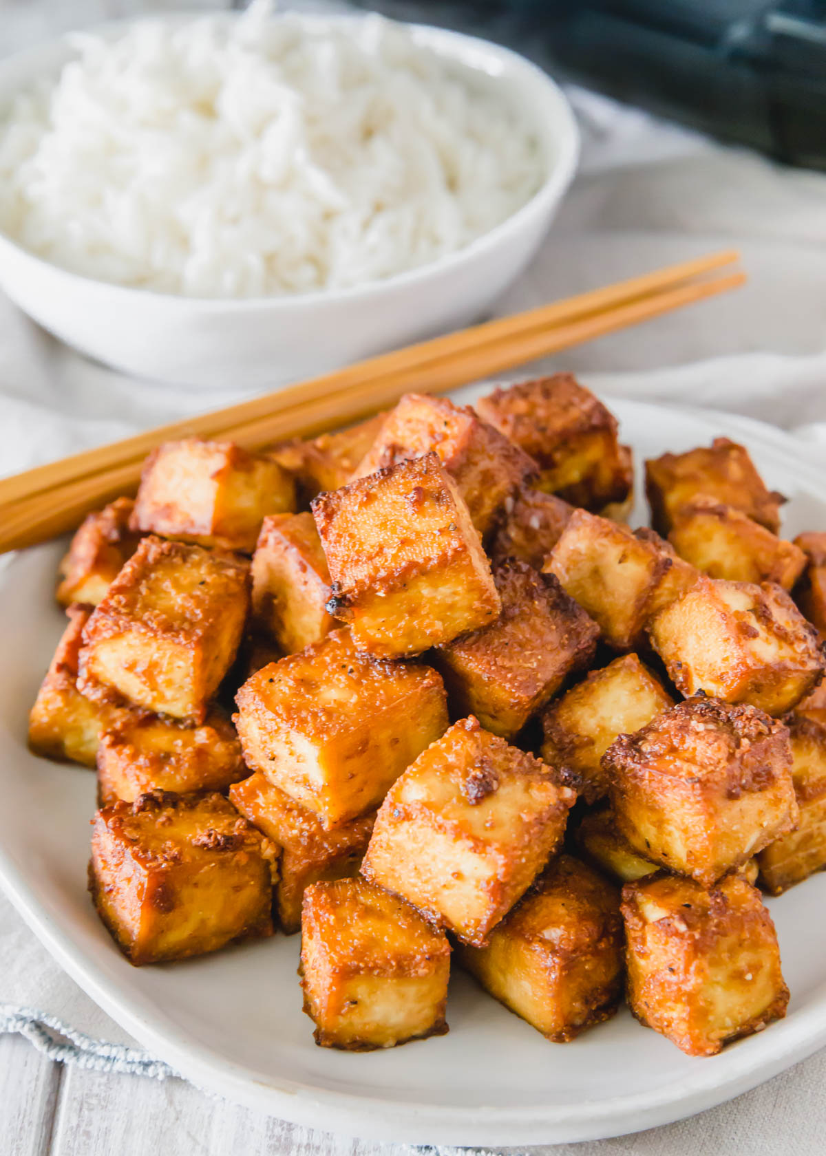 Making tofu in the air fryer is quick and simple with this easy recipe.