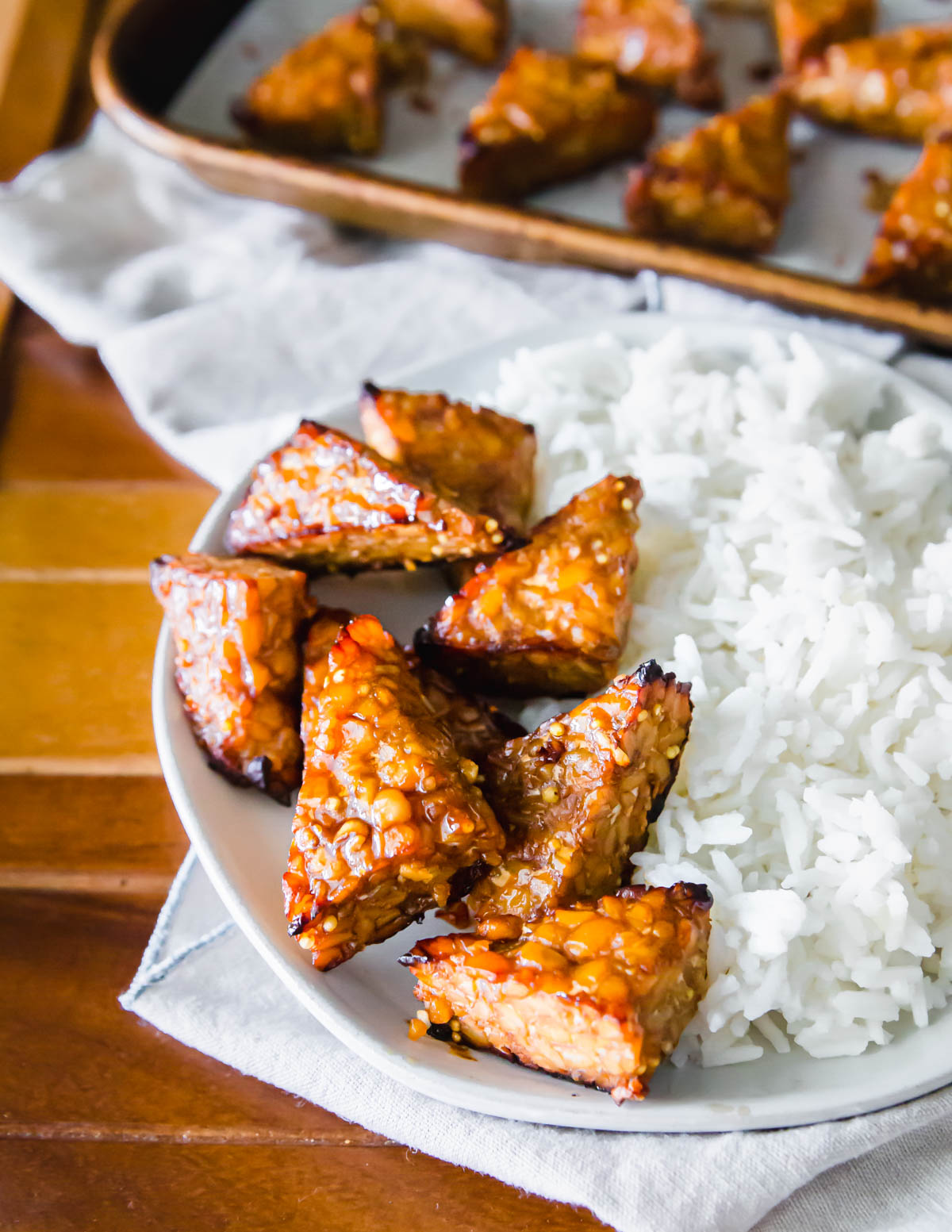 Use this easy tempeh marinade to make super flavorful and crispy oven baked tempeh as the base for any delicious plant based meal.