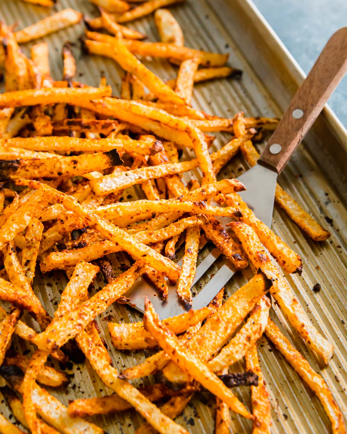 Learn how to make jicama fries with the perfect crispy texture in the oven!