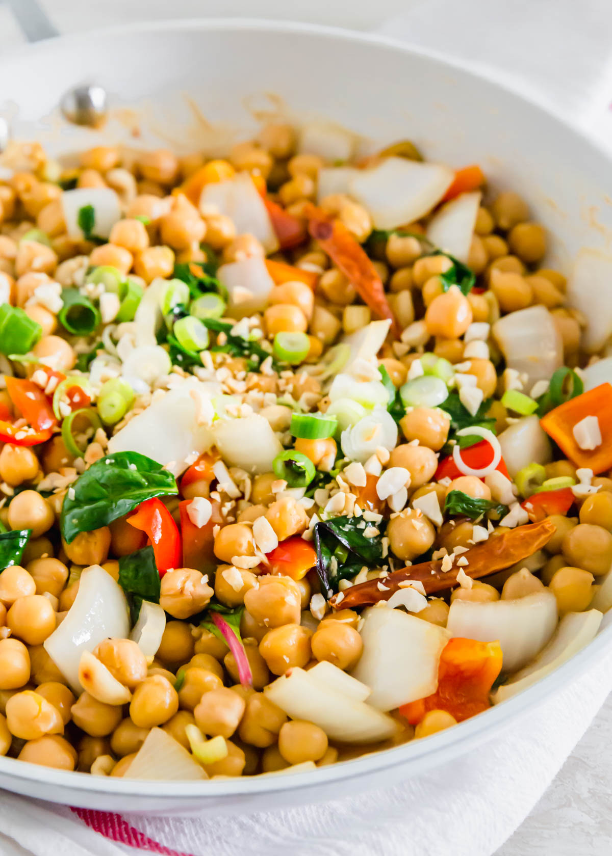 Making Kung Pao chickpeas is a great way to enjoy this Chinese takeout meal with a vegan twist.