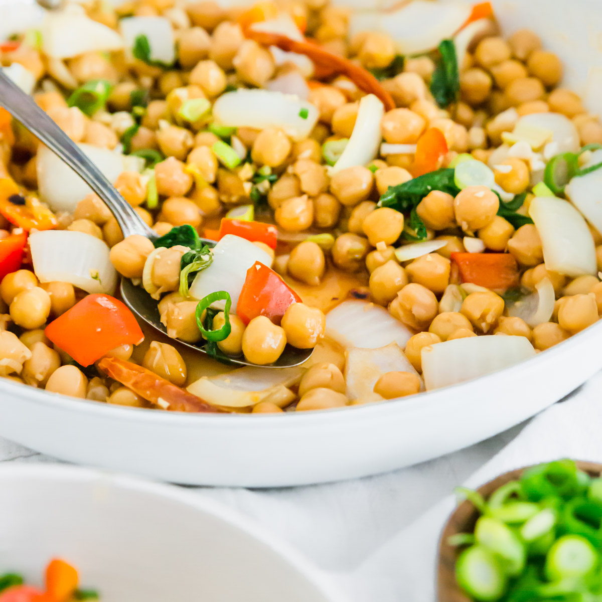 This chickpea version of the classic Kung Pao Chinese dish recreates the flavors perfectly with a healthier twist.