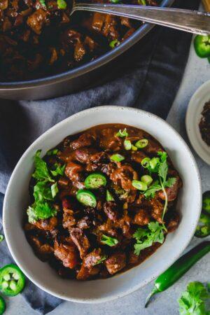 chocolate lamb chili