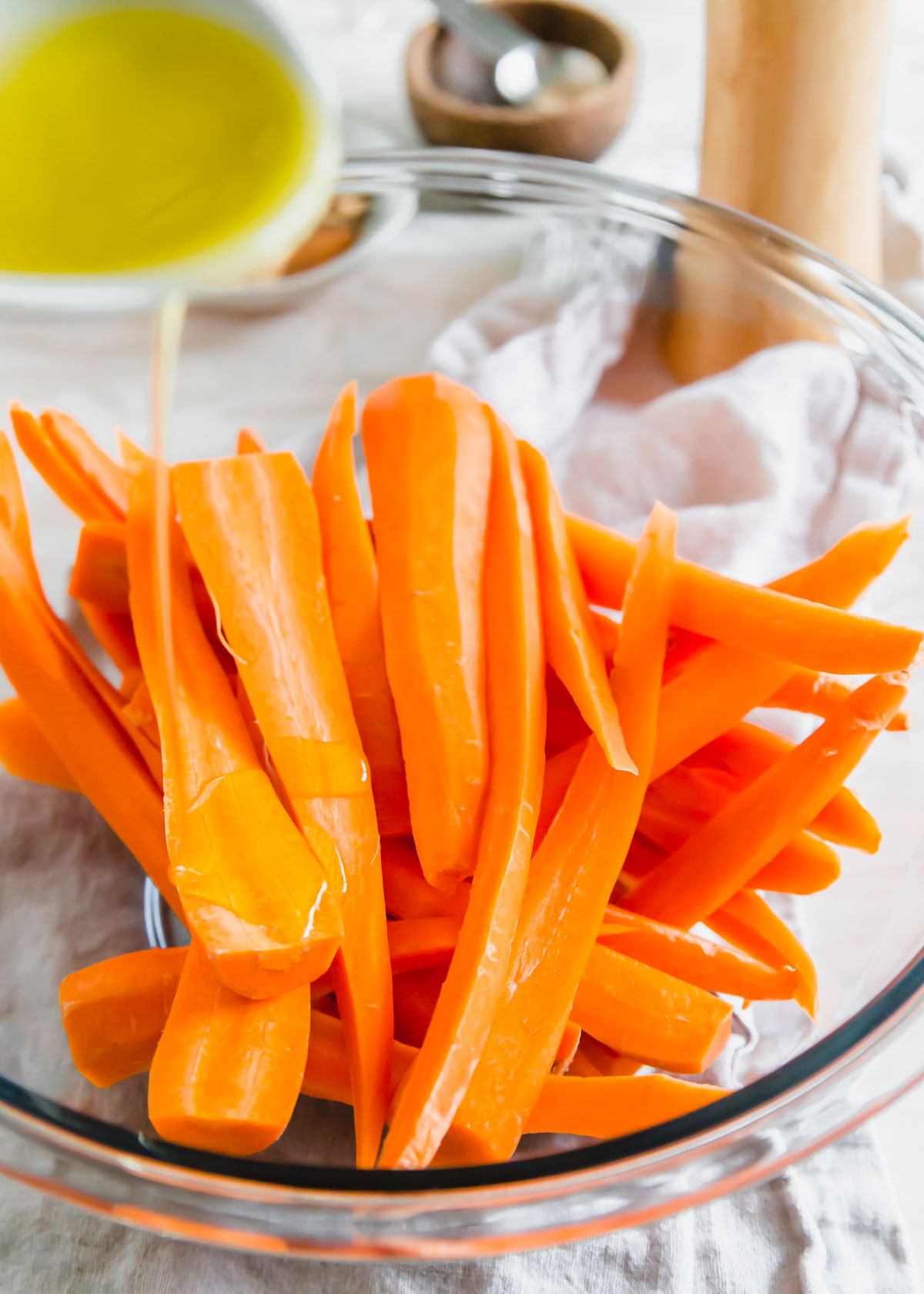 Turn carrots into a delicious spiced side dish in your air fryer with this simple recipe.