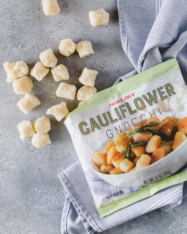 Trader Joe's cauliflower gnocchi is prepared in the air fryer to the crispiest texture.