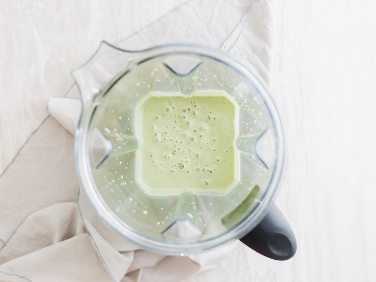 blended vegan spinach artichoke dip ingredients