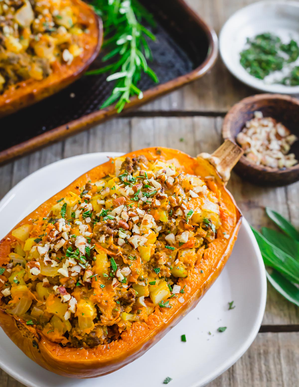 Learn how to roast and stuff honeynut squash with this quick and easy fall inspired recipe.